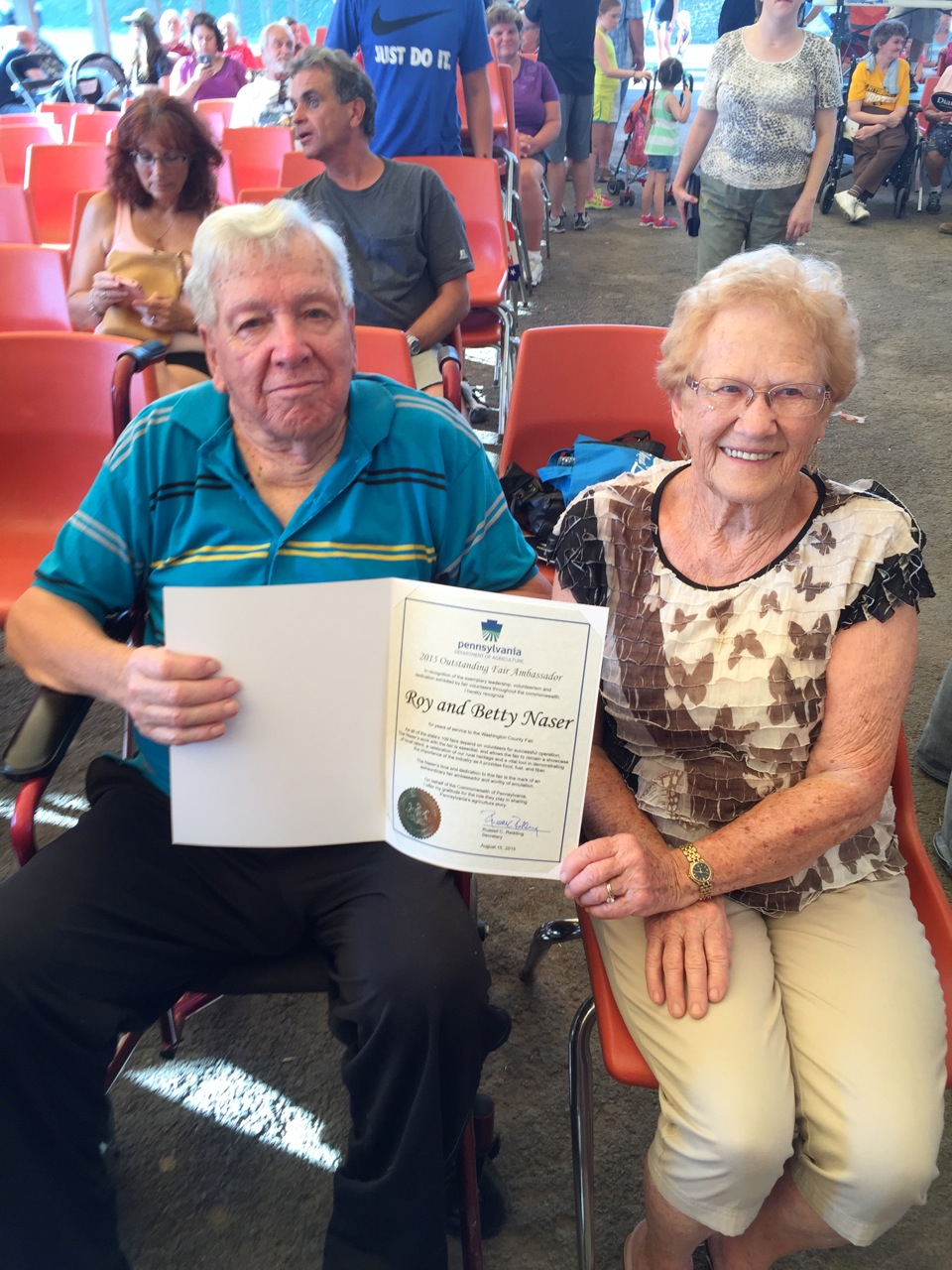 2015 Fair Ambassadors Roy and Betty Naser