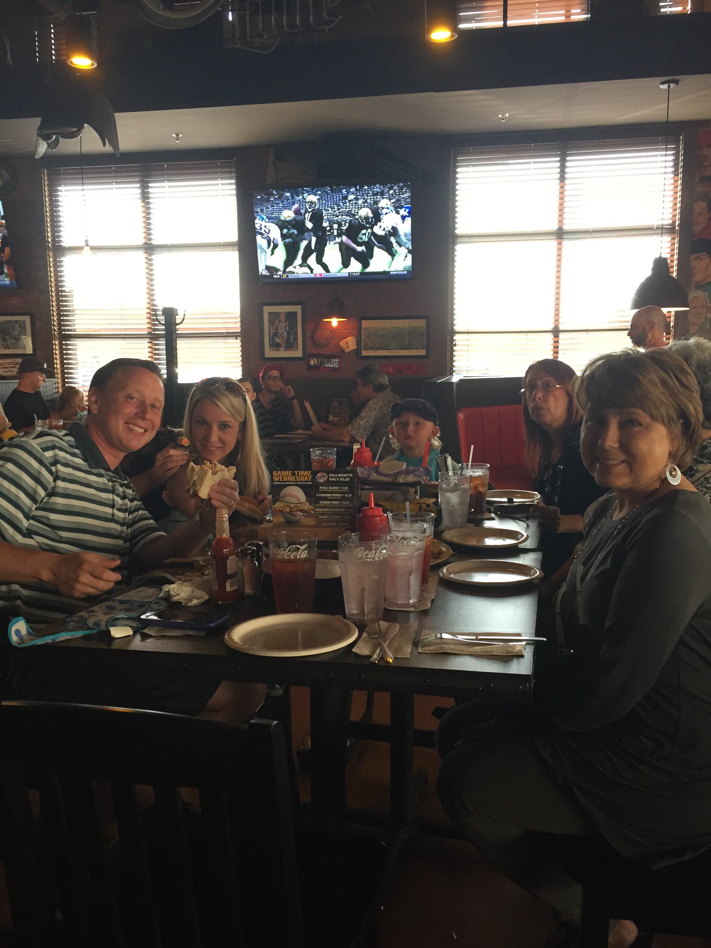 Tim and family, Primanti's grand opening.