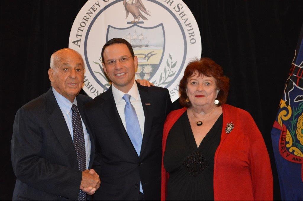 Dr. Wecht, AG Shapiro and Susan Shanaman, Esq.
